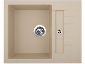 Granitový dřez Sinks CRYSTAL 615 Sahara  + 2x Čistič pro granitové dřezy SINKS
