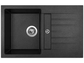 Granitový dřez Sinks CRYSTAL 780 Metalblack  + 2x Čistič pro granitové dřezy SINKS