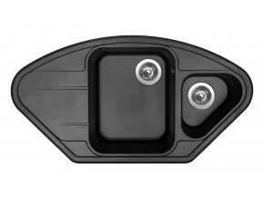 Granitový dřez Sinks LOTUS 960.1 Metalblack  + Čistič pro granitové dřezy SINKS