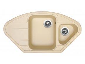 Granitový dřez Sinks LOTUS 960.1 Sahara  + Čistič pro granitové dřezy SINKS