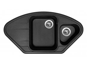 Granitový dřez Sinks LOTUS 960.1 Granblack  + 2x Čistič pro granitové dřezy SINKS