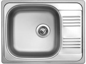 Nerezový dřez Sinks GRAND 652 V 0,8mm leštěný  + Čistící pasta pro nerezové dřezy SINKS