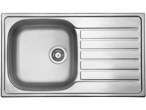 Nerezový dřez Sinks HYPNOS 860 V 0,8mm leštěný  + Čistící pasta pro nerezové dřezy SINKS