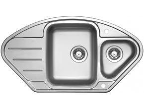 Nerezový dřez Sinks LOTUS 945.1 V 0,8mm leštěný  + Čistící pasta pro nerezové dřezy SINKS
