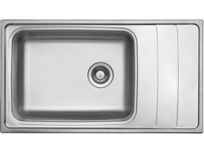 Nerezový dřez Sinks WAVE 915 V 0,8mm leštěný  + Čistící pasta pro nerezové dřezy SINKS