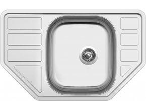Nerezový dřez Sinks CORNO 770 V 0,6mm matný  + Čistící pasta pro nerezové dřezy SINKS