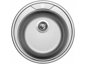 Nerezový dřez Sinks ROUND 510 V 0,6mm matný  + Čistící pasta pro nerezové dřezy SINKS