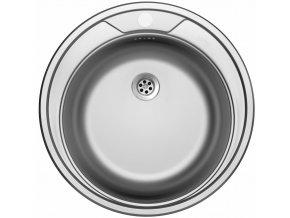 Nerezový dřez Sinks ROUND 510 M 0,6mm matný  + Čistící pasta pro nerezové dřezy SINKS