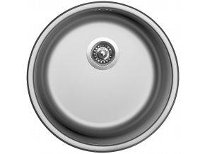 Nerezový dřez Sinks ROUND 450 V 0,6mm matný  + Čistící pasta pro nerezové dřezy SINKS