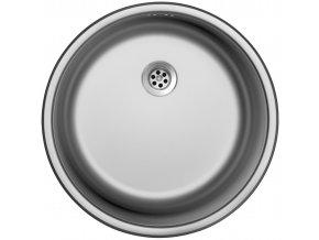 Nerezový dřez Sinks ROUND 450 M 0,6mm matný  + Čistící pasta pro nerezové dřezy SINKS