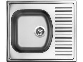 Nerezový dřez Sinks SHORT 580 V 0,5mm matný  + Čistící pasta pro nerezové dřezy SINKS