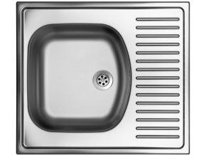 Nerezový dřez Sinks SHORT 580 M 0,5mm matný  + Čistící pasta pro nerezové dřezy SINKS