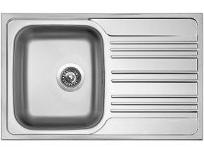 Nerezový dřez Sinks STAR 780 V 0,6mm matný  + Čistící pasta pro nerezové dřezy SINKS