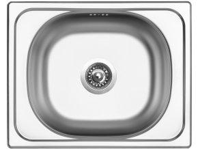 Nerezový dřez Sinks CLASSIC 500 V 0,6mm matný  + Čistící pasta pro nerezové dřezy SINKS