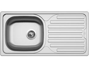 Nerezový dřez Sinks CLASSIC 860 V 0,6mm matný  + Čistící pasta pro nerezové dřezy SINKS
