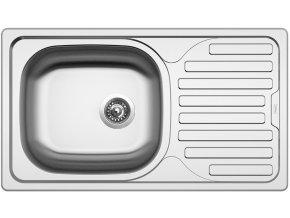Nerezový dřez Sinks CLASSIC 760 V 0,6mm matný  + Čistící pasta pro nerezové dřezy SINKS