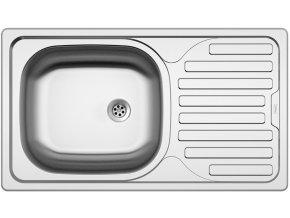 Nerezový dřez Sinks CLASSIC 760 M 0,6mm matný  + Čistící pasta pro nerezové dřezy SINKS
