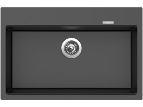 Granitový dřez Sinks MAXIMO 780 Metalblack  + Čistič pro granitové dřezy SINKS