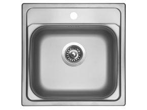 Nerezový dřez Sinks MANAUS 480 V 0,7mm leštěný  + Čistící pasta pro nerezové dřezy SINKS