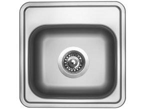 Nerezový dřez Sinks BAR 380 V 0,6mm matný  + Čistící pasta pro nerezové dřezy SINKS