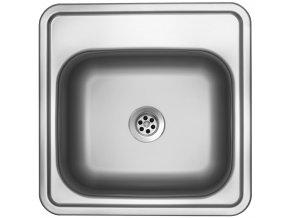 Nerezový dřez Sinks BAR 380 M 0,6mm matný (bez přepadu)  + Čistící pasta pro nerezové dřezy SINKS
