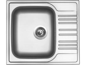 Nerezový dřez Sinks STAR 580 V 0,6mm matný  + Čistící pasta pro nerezové dřezy SINKS