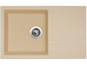 Granitový dřez Sinks LINEA 780 N Sahara  + 2x Čistič pro granitové dřezy SINKS