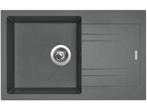 Granitový dřez Sinks LINEA 780 N Titanium  + Čistič pro granitové dřezy SINKS