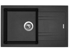 Granitový dřez Sinks LINEA 780 N Metalblack  + 2x Čistič pro granitové dřezy SINKS