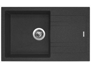 Granitový dřez Sinks LINEA 780 N Granblack  + Čistič pro granitové dřezy SINKS
