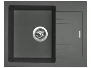 Granitový dřez Sinks LINEA 600 N Titanium  + 2x Čistič pro granitové dřezy SINKS