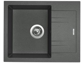 Granitový dřez Sinks LINEA 600 N Titanium  + Čistič pro granitové dřezy SINKS