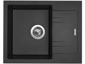 Granitový dřez Sinks LINEA 600 N Metalblack  + Čistič pro granitové dřezy SINKS