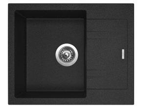 Granitový dřez Sinks LINEA 600 N Granblack  + Čistič pro granitové dřezy SINKS