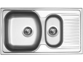 Nerezový dřez Sinks TWIN 780.1 V 0,6mm matný  + Čistící pasta pro nerezové dřezy SINKS