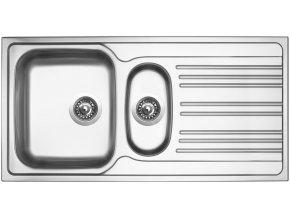 Nerezový dřez Sinks STAR 1000.1 V 0,6mm matný  + Čistící pasta pro nerezové dřezy SINKS
