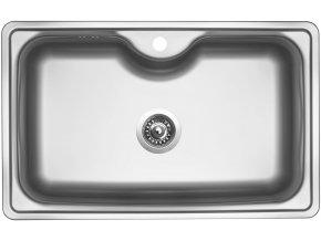 Nerezový dřez Sinks BIGGER 800 V 0,8mm matný  + Čistící pasta pro nerezové dřezy SINKS