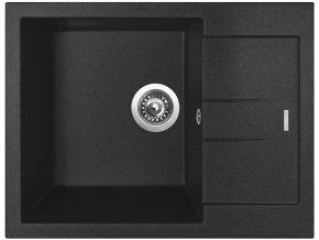 Granitový dřez Sinks AMANDA 650 Metalblack  + Čistič pro granitové dřezy SINKS