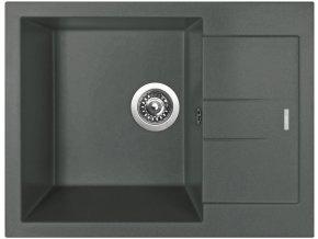 Granitový dřez Sinks AMANDA 650 Titanium  + 2x Čistič pro granitové dřezy SINKS