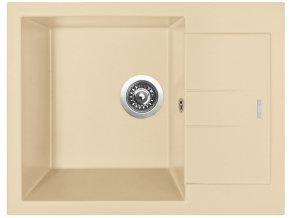 Granitový dřez Sinks AMANDA 650 Sahara  + Čistič pro granitové dřezy SINKS