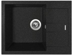 Granitový dřez Sinks AMANDA 650 Granblack  + Čistič pro granitové dřezy SINKS
