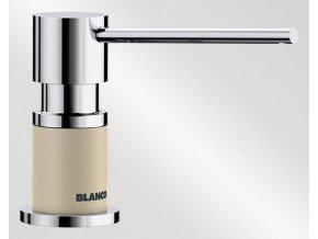Dávkovač saponátu Blanco LATO Silgranit béžová champagne + chrom lesk 525813