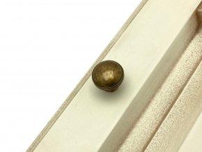 rustikalni nabytkova knopka anelo mosaz patina lesk