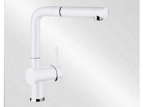 Kuchyňská vodovodní baterie Blanco LINUS-S Keramika-look bílá lesk 516710