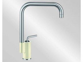 Kuchyňská vodovodní baterie Blanco AJARIS silgranit, jasmín/chrom lesk 520818V