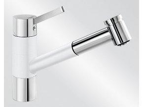 Kuchyňská vodovodní baterie Blanco TIVO-S HD silgranit bílá/chrom lesk 517613V