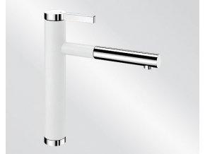 Kuchyňská vodovodní baterie Blanco LINEE S silgranit bílá/chrom lesk 518441V