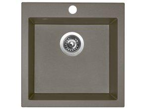 Granitový dřez Sinks VIVA 455 Truffle  + Čistící pasta pro nerezové dřezy SINKS