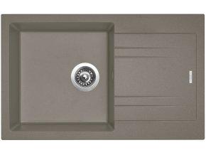 Granitový dřez Sinks LINEA 780 N Truffle  + Čistící pasta pro nerezové dřezy SINKS