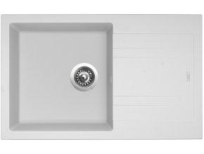Granitový dřez Sinks LINEA 780 N Milk  + Čistící pasta pro nerezové dřezy SINKS
